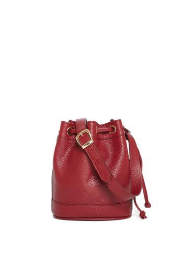 Amira bags borsa secchiello piccola rosso cranberry