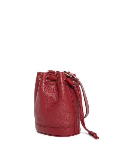 borsa secchiello piccola rosso cranberry amira bags
