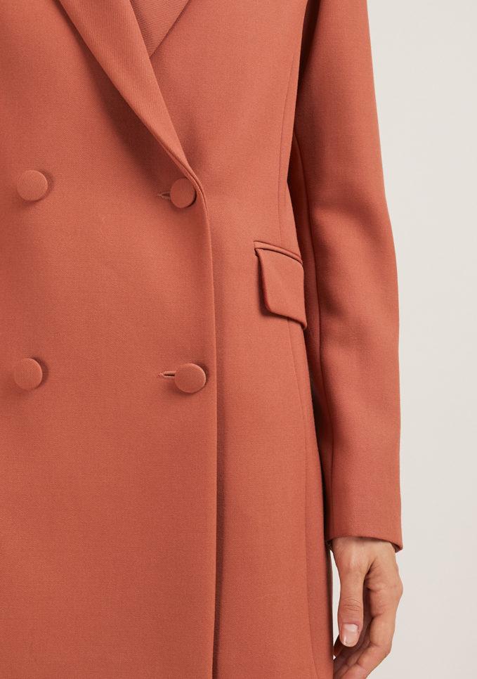 Annagiulia Firenze blazer color mattone lana dettagli
