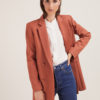 Annagiulia Firenze blazer lana color mattone doppio petto