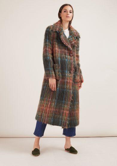 Annagiulia Firenze cappotto mohair lana fantasia quadri