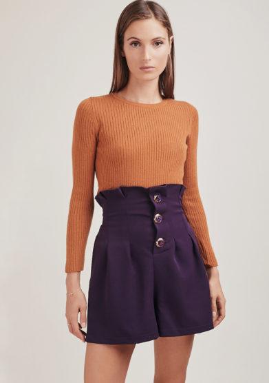 Le globazine shorts panno viola tribeca
