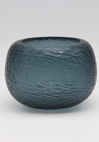 Micheluzzi glass vaso puffo blu oceano vetro murano