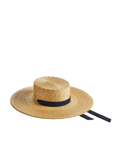 Montegallo cappello paglia gaucho nastro blu