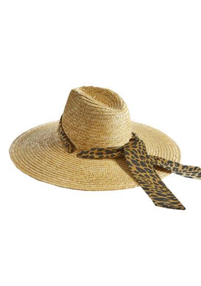 back cappello in paglia con fascia animalier Montegallo
