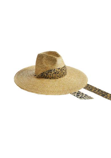 cappello in paglia con fascia animalier Montegallo front