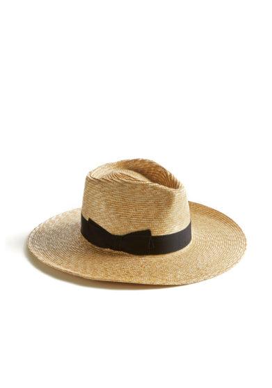 Montegallo cappello lady Bogart paglia fiocco blu gros grain