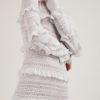 16R Romina Caponi abito lungo rouches traforato argento Lolly1R