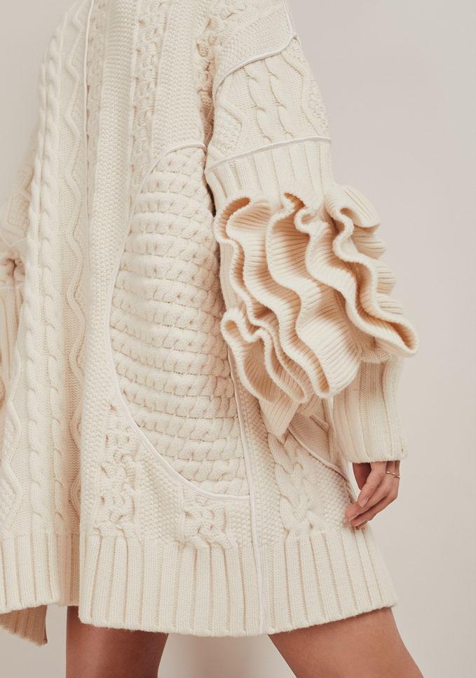 16R cappotto panna lana romina caponi dettaglio manica