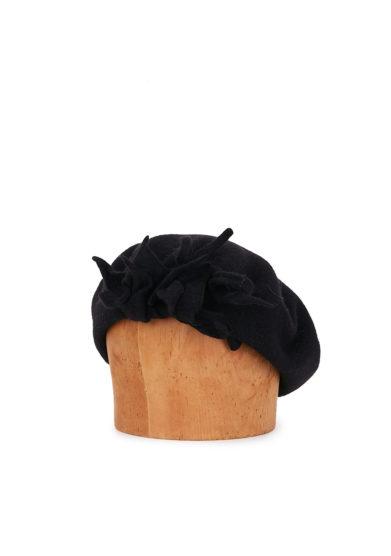 Altalen cappello basco nero lana cashmere