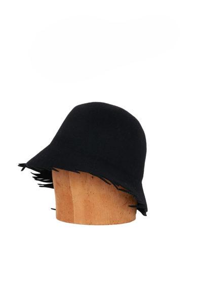 Altalen cappello cloche nero feltro lana
