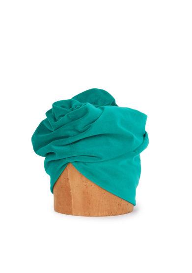 Altalen turbante verde menta cupro nodo