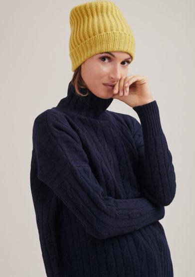 Alyki cappello color senape cashmere