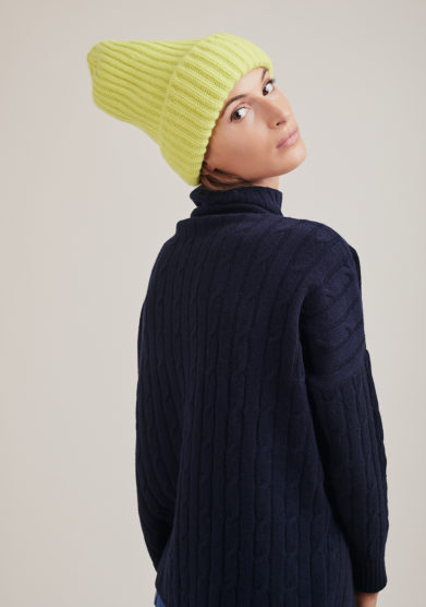Alyki cappello cashmere giallo opal flash