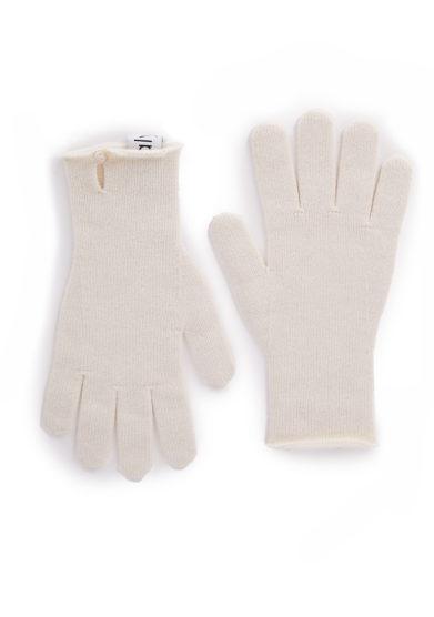 Alyki guanti cashmere lana bottone madre perla