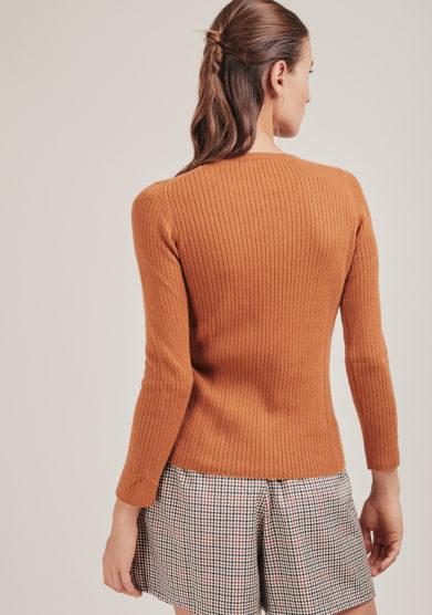 maglia Twinky paricollo a costine in cashmere alyki