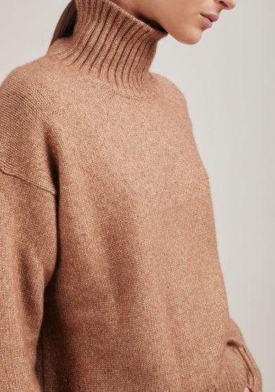 maglia lupetto Aspen misto cashmere beige alyki