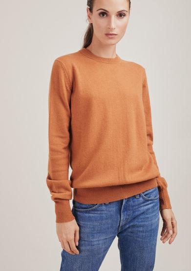Alyki maglia paricollo Mary in cashmere cammello