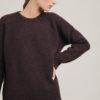 Alyki pullover in cashmere e seta marrone