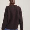 Alyki pullover in cashmere e seta marrone supersoft