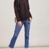 Alyki pullover morbido in cashmere e seta marrone