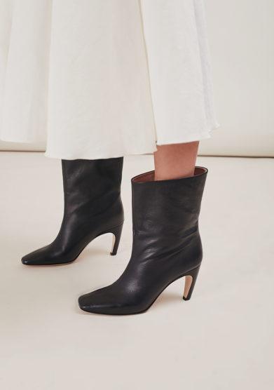 Gia couture stivaletto atena in pelle nera
