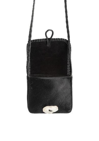 mini borsa a tracolla tikuna in cavallino nero iacobella