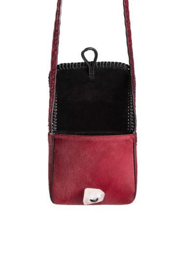 mini borsa a tracolla tikuna in cavallino rosso iacobella