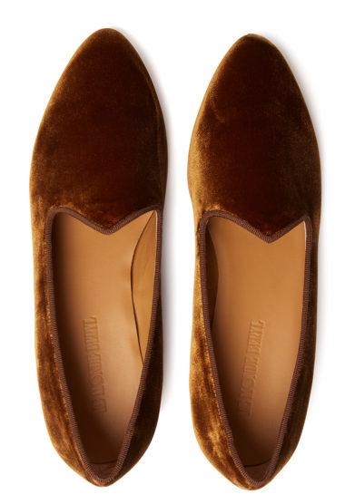 scarpe venetian slipper velluto ambra le monde beryl