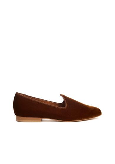 Le monde beryl scarpe venetian slipper velluto ambra