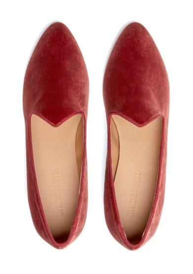 scarpe venetian slipper velluto mattone le monde beryl