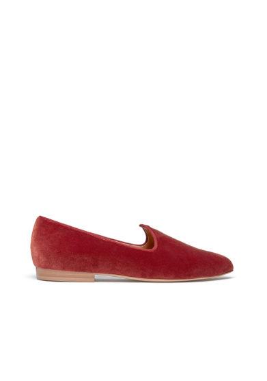 Le monde beryl scarpe venetian slipper velluto mattone