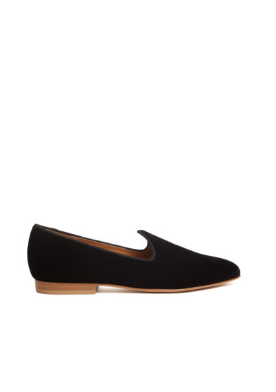 Le monde beryl scarpe venetian slipper velluto nero
