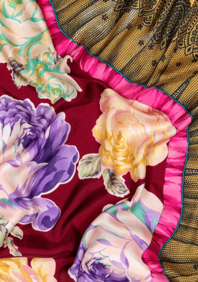foulard small carrè rue de bretagne prugna mantero 1902