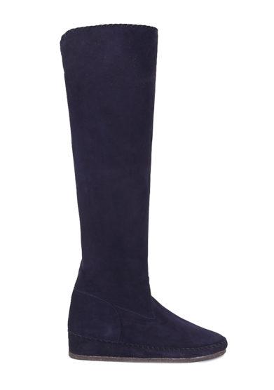 Socksi milano stivale margherita sotto il ginocchio in pelle scamosciata blu