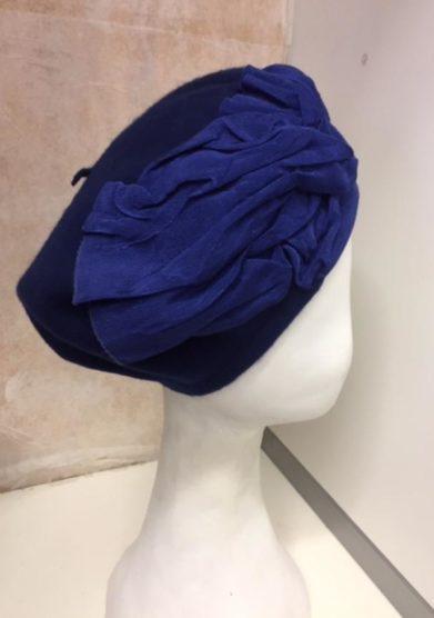 Altalen cappello basco blu lana dettagli gros grain