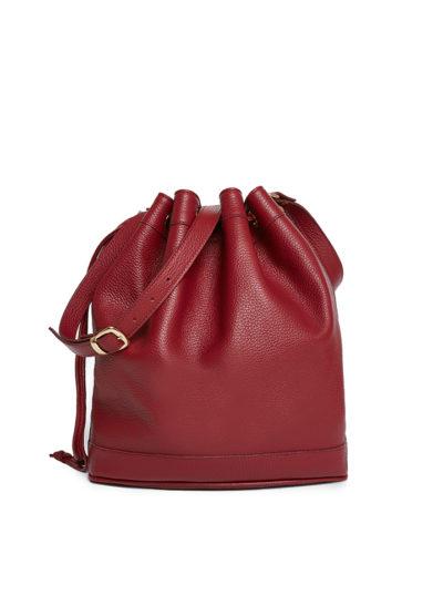 Amira bags borsa secchiello grande rosso cranberry