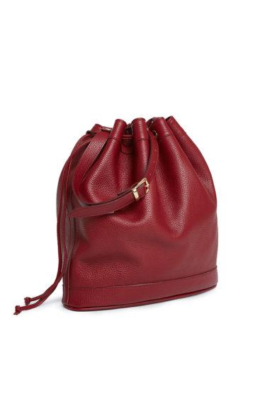 borsa secchiello grande rosso cranberry mira bags