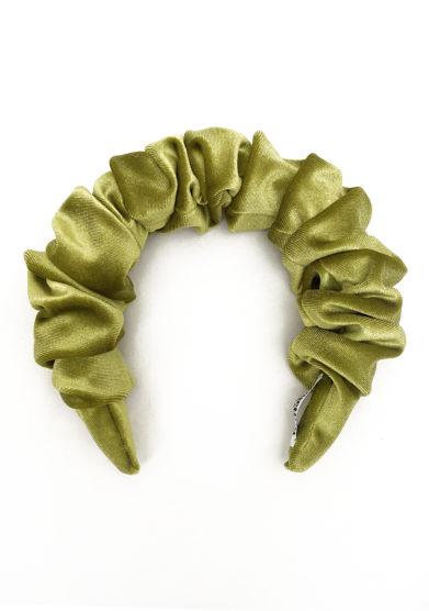 Bluetiful milano cerchietto curly velvet verde kiwi