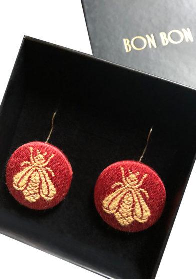 Bon bon orecchini the bee collection api rossi