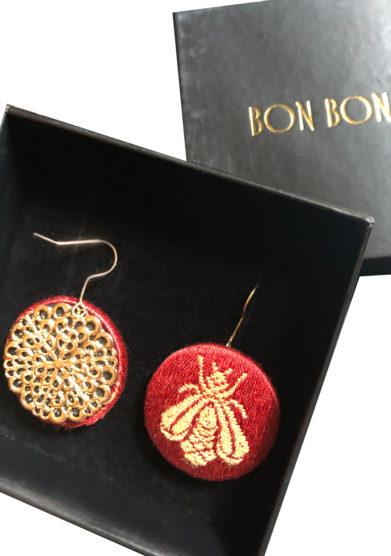 orecchini the bee collection api rossi bon bon
