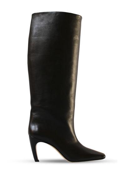 Gia couture stivale alto clizia in pelle nera
