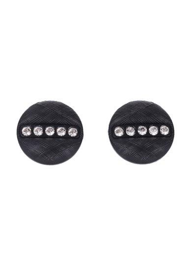 Il Borro bottoni plastica strass nero vintage