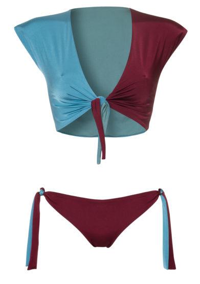 Los Trpitos al Sol bikini Belair carioca azzurro rosso