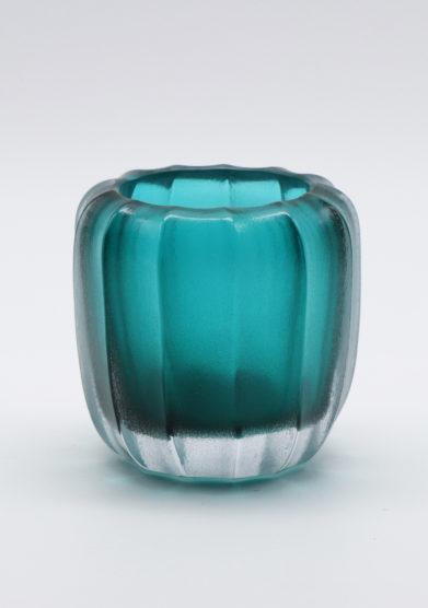 Micheluzzi Glass vaso smeraldo rullo vetro murano