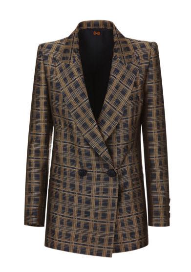 blazer jacquard blu oro nasco unico