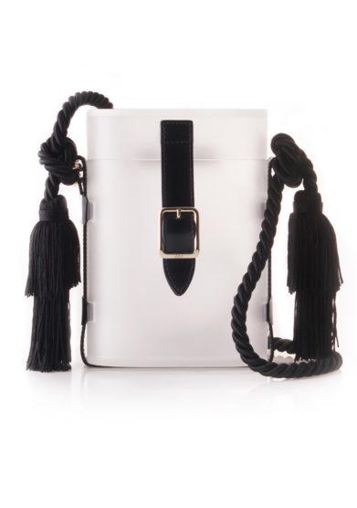Officina del Poggio mini safari bag acrilico satinato trasparente