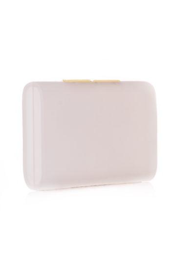 Officina del Poggio clutch Toscano trasparente acrilico satinato rifiniture oro
