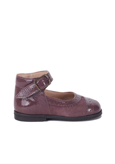 PèPè Children scarpe rosa antico primi passi suede vernice
