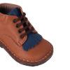 PèPè Children scarpe bimbo pelle capra marrone primi passi dettaglio blu